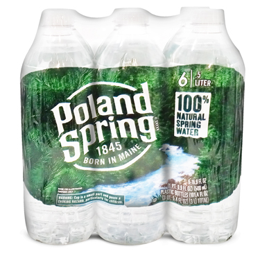 POLAND SPRING WATER 6PK