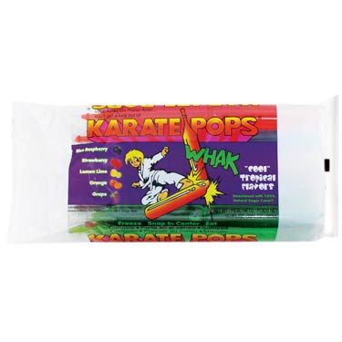 KARATE ICE POPS ASSORTED FLAVORS 10PK