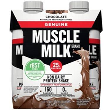 MUSCLE MILK PROTEIN SHAKE CHOCOLATE 4PK