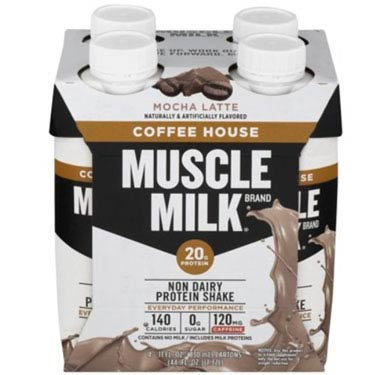 MUSCLE MILK PROTEIN SHAKE COFFEE 4PK