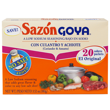 GOYA SAZON CON ACHIOTE NO SALT