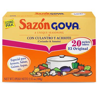 GOYA SAZON CON CULANTRO Y ACHIOTE