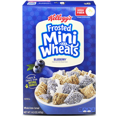 KELLOGGS FROSTED MINI WHEATS BLUEBERRY