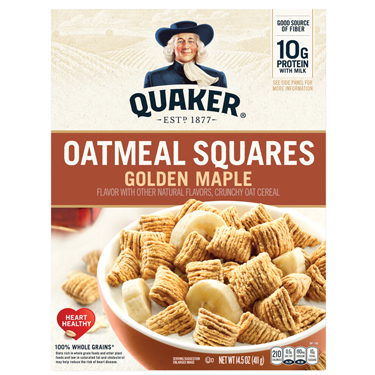 QUAKER OATMEAL SQUARES GOLD.MAPLE