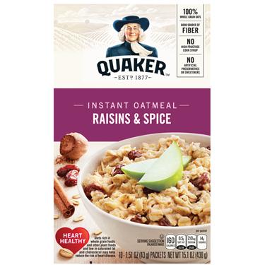 QUAKER INST OATS W/RAISINS