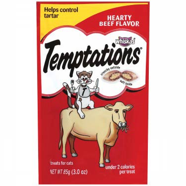 WHISKAS TEMPTATIONS HEARTY BEEF