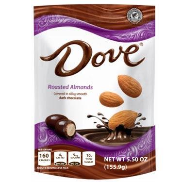 DOVE DARK CHOCOLATE ALMOND CANDY