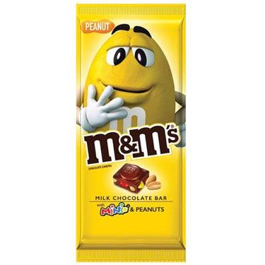M&MS MILK CHOCOLATE BAR MINIS & PEANUTS