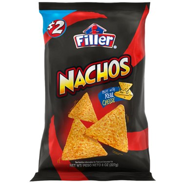 FILLER NACHOS WITH REAL CHEESSE