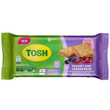 TOSH YOGURT AND CRANBERRIES 8PK