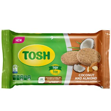 TOSH COCONUT AND ALMOND 9PK