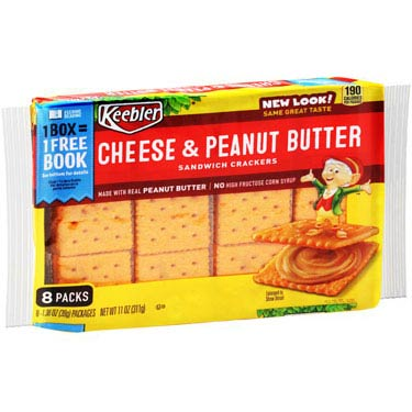 KEEBLER CHEESE & PEANUT BUTTER CRACKERS