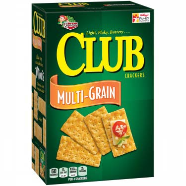KEEBLER CLUB CRACKERS MULTI-GRAIN