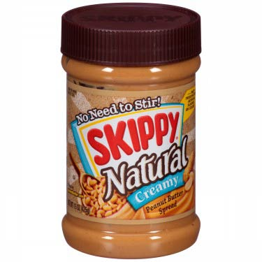SKIPPY NAT CREAMY PEANUT BUTTER