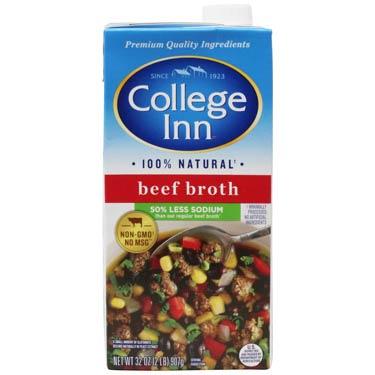 COLLEGE INN BEEF BROTH LOW SODIUM