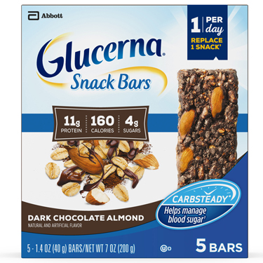 GLUCERNA SNACK BARS DARK CHOCOLATE