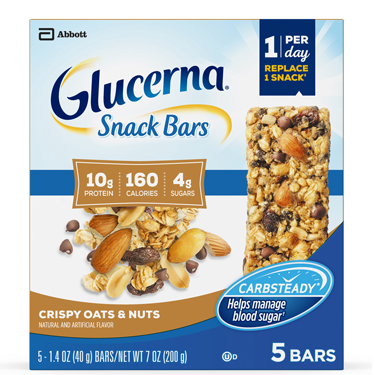 GLUCERNA SNACK BARS OATS NUTS