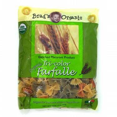 BRADS ORGANIC FARFALLE TRI-COLOR