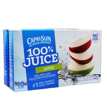 CAPRI SUN 100% APLE JUICE 10PK