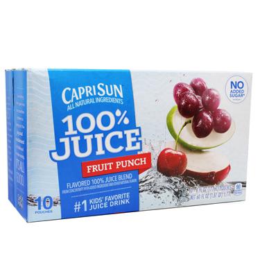 CAPRI SUN 100% FRUIT PUNCH 10PK