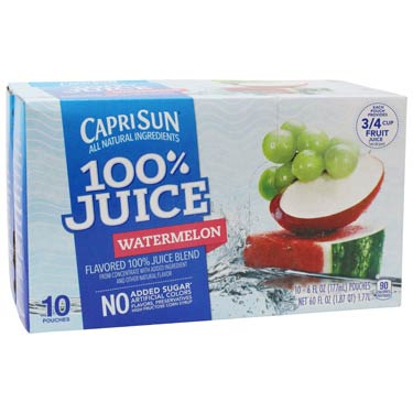 CAPRI SUN 100% JUICE WATERMELO