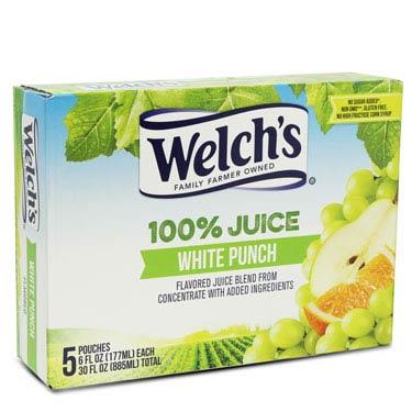 WELCHS WHITE PUNCH 100% JUICE 5CT