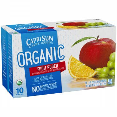 CAPRI SUN ORGANIC FRUIT PUNCH 10PK