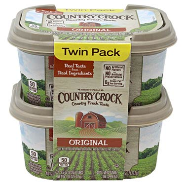 COUNTRY CROCK MARGARINE  REG 2PK