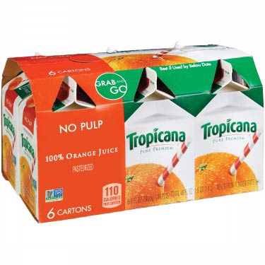 TROPICANA ORANGE JUICE 6PK