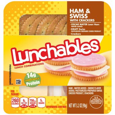 OSCAR MAYER LUNCHABLE HAM & SWISS CHEESE