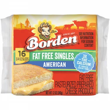 BORDEN CHEESE AMERICAN FAT FREE