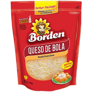 BORDEN QUESO DE BOLA SHREDDED