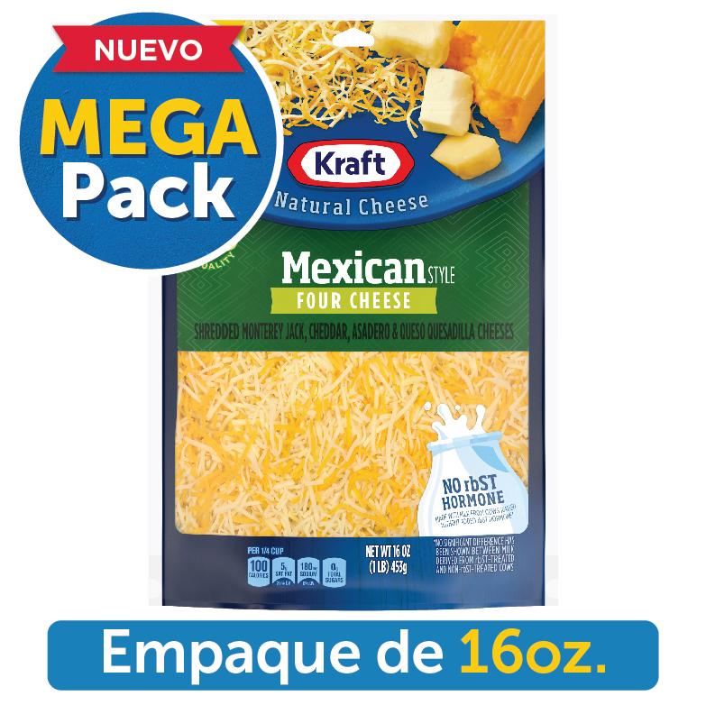 KRAFT MEXICAN FOUR CHEESE SHREDDED