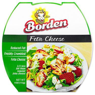 BORDEN REDUCED FAT FETA