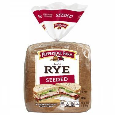 PEPPERIDGE FARM JEWISH RYE SEEDED BREAD