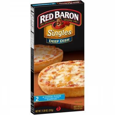 RED BARON DEEP DISH SINGLE 4 CHEESE PIZZ
