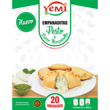 YEMI EMPANADITAS PESTO MOZZARELLA