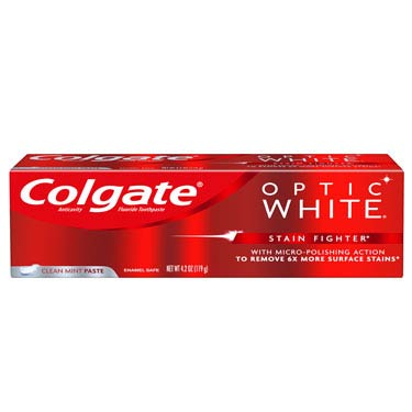 COLGATE OPTIC WHITE STAIN CLEAN MINT