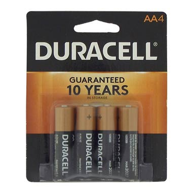 DURACELL AA-4 BATTERIES