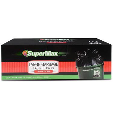 SUPERMAX LGE TRASH FAST-TIE 30GL