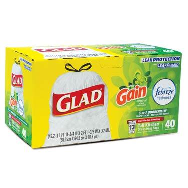 GLAD TALL K.DRAWSTRING GAIN 13G