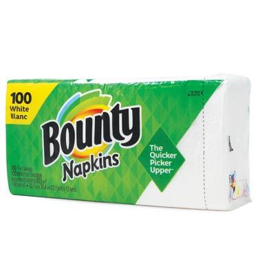 BOUNTY NAPKINS WHITE