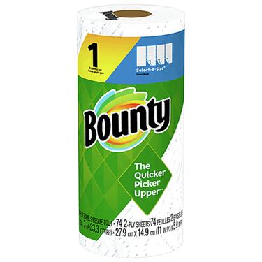 BOUNTY SELECT-A-SIZE WHITE 83CT