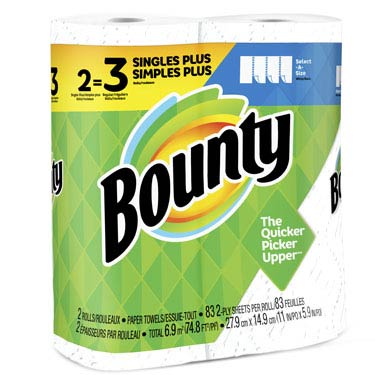 BOUNTY SELECT-A-SIZE WHITE 83CT