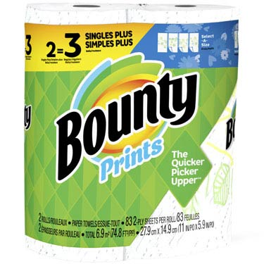 BOUNTY SELECT-A-SIZE PRINTED 83CT