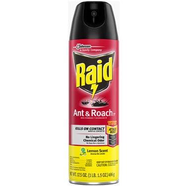 RAID ANT & ROACH KILLER LEMON