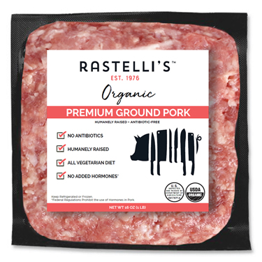 RASTELLIS PREMIUM GROUND PORK ORGANIC